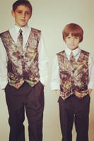 Wholesale Camo Vest Kids Formal Wear Boy s Wedding Wear Custom Made