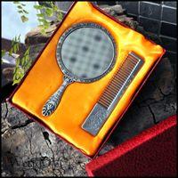 antique vanity mirror - Egypt Continental retro portable portable small mirror handle make up mirror vanity mirror comb lover birthday gift