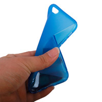 Wholesale S line soft mobile phone bag for apple iphone6 transparent TPU cover for iphone6