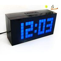 led digital wall clock - Fashion Large Big Jumbo LED Digital Multifunctional Alarm Clock Temperature Calendar Decoration Desk Wall Clock Backlight Office Clock