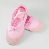 Girl baby ballet shoe - Children Dancing Shoes New Fashion Baby Girls Simple Design Soft Sole Canvas and Genuine Leather Ballet Shoes