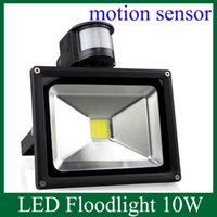 Wholesale LED Floodlight W PIR Motion Sensor Home Garden Security LED Flood Light Outdoor Lamp AC V Outdoor Light TGD031