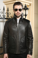 australian leather jackets - Fall Mens Authentic Sheepskin wool coat Sheepskin coats Genuine Leather Winter leather jacket men Leather clothing imports Australian