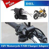 Wholesale Hot Sale Car Cigarette Lighter Socket DC V Dual USB Car Charger Power Adapter Outlet Shipping