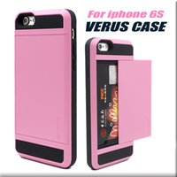 For Apple iPhone iphone 4 - Iphone S Case For Galaxy S6 Case Verus Case Slim Armor slide hard TPU back cover Case For iphone s plus Note With card slot Opp Package