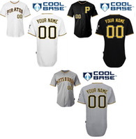 Wholesale 30 Teams Custom jersey baseball Pittsburgh Pirates mlb Personalized Cool Base Personalized Baseball Jerseys Cheap Embroidery