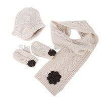 Wholesale Children Knitted Caps amp Beanies Scarf amp gloves Sets Baby Boy Girl Winter Warm Crochet Hats Christmas Gift free