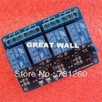 Wholesale 4 channel relay module channel relay control board with optocoupler Relay Output way relay module for arduino In stock A5