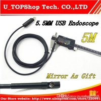 Wholesale 5 mm USB Waterproof Endoscope Borescope Snake Inspection Camera M Medical Detection Mini Camera Mirror As Gift A3