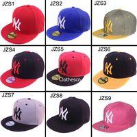 Wholesale Men s Adjustable Snapback Hats NY Baseball Caps Snapbacks Hats Hiphop Hat Popular Men Women Ball Caps Drop Ship DHL Free