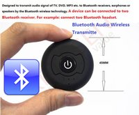 Wholesale Bluetooth Audio Wireless Transmitter Mini Music Portable Stereo Adapter For Tablet PC Smartphone MP3 MP4 iPod TV