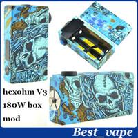 Versión actualizada de hex ohm v2 vapor mod <b>hexohm v3</b> caja mod 1: 1 clon <b>hexohm v3</b> caja mod 180w con pantalla LED