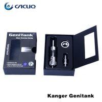 Wholesale Authentic Kanger Genitank Kit Cartomizer Tanks Atomizers Airflow Control Kangertech Dual Coil Clearomizer E Cigarettes ecig Atomizer
