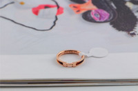 amber rose ring - 15 off size k Rose gold Amber Ring titanium steel rings Wedding ring necklaces pendants Couple rings drop shipping SL