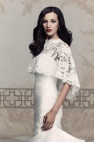 bolero jacket wedding dress - Hot Lace wedding Wrap Sheer Bridal Jackets with Applique White Ivory Bridal Bolero for Wedding Dresses Dubai Abaya