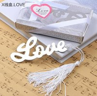 baby shower words - 20PCS Wedding Favors Event Gift Party Supplies Baby Shower Gifts quot Words of Love quot Bookmarks With White Silk Tassel