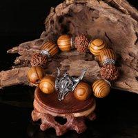 Cheap European and American jewelry retro nostalgia elegant luxury jewelry personalized diamond bracelet wooden bead Tau! Necklace