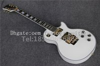 best tremolo system - OEM Factory best quality new famous brand white custom electric guitar with golden tremolo system and ebony fingerboard