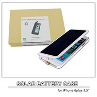 Wholesale solar powered cell phone case for iphone plus external battery case mah power bank for iphone6 plus