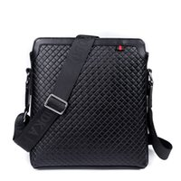 Wholesale Men Classic Fashion Genuine Leather Briefcase Cross Body Messenger Bags Casual Multifunctional laptop shoulder bags