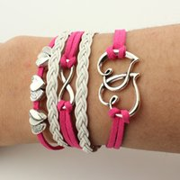 beautiful shares - Factory G0050 Europe retro heart words more shares are beautiful leather hand woven Bracelet Valentine s Day Gifts