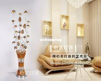 Wholesale modern floor lamp hotel rooms bedroom living room vase aluminum floor lamp fashion standing lamp V W