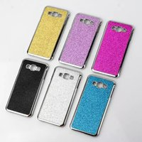 a8000 - For Samsung A8 Glitter Hard PC Phone Back Case Electroplate Chrome Silver Bling Shimmering Cover for Galaxy A800 A8000