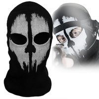 Wholesale Ideal Balaclava Ghost Skull Bike Motorcycle Helmet Hood Ski Sport Neck Face Mask Brand New Good Quality