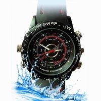 La certificación CE de alta calidad de la cámara HD del reloj videocámara impermeable 1280 * 960 grabador de vídeo Mini cámara oculta DVR reloj de cuero reloj dv