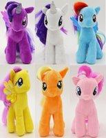 applejack pony - 19cm My Little Pony Plush Applejack Rarity Fluttershy Rainbow Dash Pinkie Pie Twilight Sparkle Plush Toys Gifts For Kids