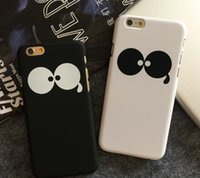 big hard case - Cute Big Eyes Matte Case For iPhone s s plus Creative Protective Hard Back Cover Shell