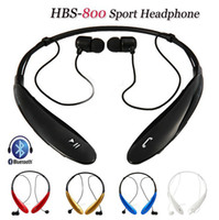 Cheap Wireless Bluetooth Headphone HBS-800 Stereo Headset Handsfree Neckband Sports Earphone Earbuds For LG Mobile Phone MP3