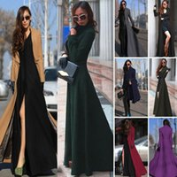 american cloth sizes - Wool Coat Long_Length Women s Outerwear Coats Slim Sexy Trench Coats Large Size Ladies Cloth Overcoat