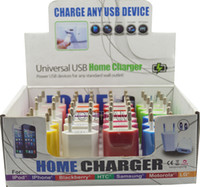 Wholesale iphone mini usb square home charger mA with display box colorful in a box charge for any smart phone mp3 mp4