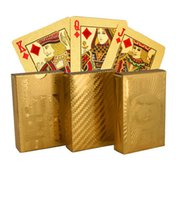 Wholesale Unusual Gift Certified Pure Carat Gold Foil Poker Cards w Cards Jokers Birthday Novelty Present