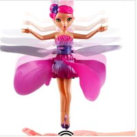 Wholesale 2015 New DIY Flying Fairy Dolls Learning Education Infrared Induction Control Flying Angel Doll Baby toys for girls