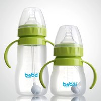 arc choice - The baby milk bottle with wide mouth automatic arc handle ml color for choice