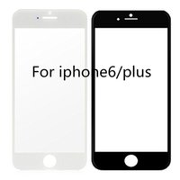 Cheap For iphone6 6+ Front Outer Glass Lens For iphone 4 4S 5 5C 5S Glass Touch Screen Cover Replacement Part Black White