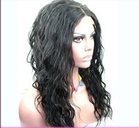 for black hair products - 2015 Full Lace Front Wig Glueless Loose Wave Wig Peruvian Virgin Hair for Black Women inch A Grade CARA Hair Product