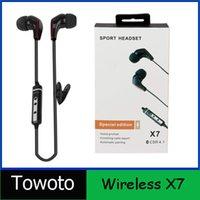 Cheap X7 Wireless Headphones Sport Neckband Headset In-ear Headphone Bluetooth Earphones For Mobile Phone iphone VS PB2 Free DHL