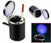 ashtray - New Car Accessories LED Ashtray Portable Car Auto Home Office Smokeless Ashtray Cigarette Cylinder Ashtray Holder Cup