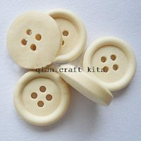Wholesale 800pcs of Round Wooden Buttons mm inch Sewing craft buttons holes unvarnished natural wood buttons