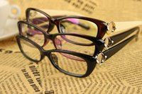 optical frame - 2015 New Update Fashion Optical Frames Plastic Eyeglasses With Metal Decoration Glasses Frames
