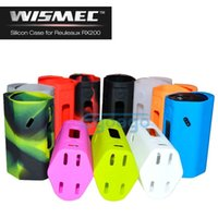 Wholesale RX200 Silicone Cases Silicon Case Colorful Protective Covers Skin For Vaporizer Wismec Reuleaux RX200 TC RX Box Mod