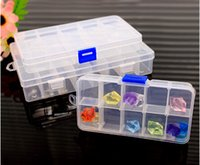 Wholesale Three Size Clear Plastic Cell Wedding Jewelry Storage Boxes Adjustable Tool Medicine Storage Boxes Bins