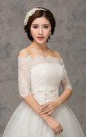 accessories for summer - 2015 Wedding Lace bolero Jacket Bridal Shawl Half Sleeve For Wedding party Appliqued Bridal Accessories Custom made