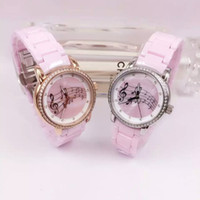 band sheets music - high quality pink Ceramic Band elegent Women Dress Watches with Sheet music fashion girl gift hour
