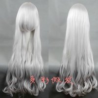 Wholesale Curly Wigs White Inch Cosplay Wigs Rozen Maiden Do It Yourself Cheap Long Anime Vogue Wigs Cheap Hair Weave A331