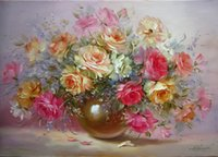 Wholesale Frameless Pictures Painting By Numbers DIY Digital Oil Painting On Canvas Home Decoration x50cm new version of sweet flowers