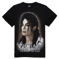 michael jackson - Metal empire creative personality of men s T shirt men s clothing sports brand cotton short sleeve shirt dt Michael Jackson TX L